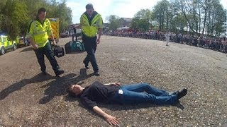 preview picture of video '2013 Brooklands Mayday Emergency Vehicles Day Part 5 - Pedestrian Accident'