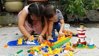 Trò Chơi Xếp Hình Tàu Đánh Bắt Cua Cá ❤ ChiChi ToysReview TV ❤ Đồ Chơi Trẻ Em Baby Doli