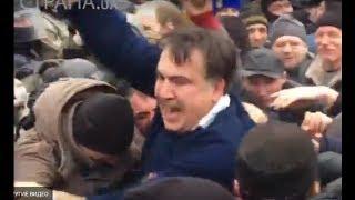 Как Саакашвили освобождали. Момент выхода из машины
