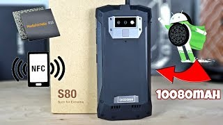 Doogee S80 - 10080mAh - 6GB/64GB- Global LTE - NFC - Wireless Charge - Walkie Talkie