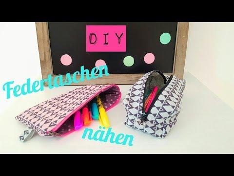DIY Federtaschen/Federmäppchen nähen in 2 Varianten/Anfänger|DIY Kajuete