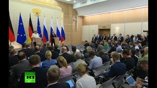 Putin & Merkel speak to press in Sochi (streamed live)