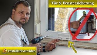 Fenster gegen Einbruch sichern  / Tür & Fenstersicherung nachrüsten - Einbauanleitung
