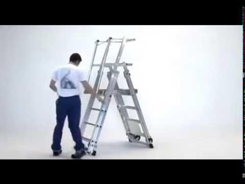 Zarges Teleskop-Plattformleiter ZAP Telemaster S-youtube_img