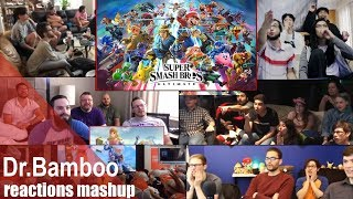 Super group react to Super Smash Bros. Ultimate - E3 2018 - Nintendo Switch REACTIONS MASHUP