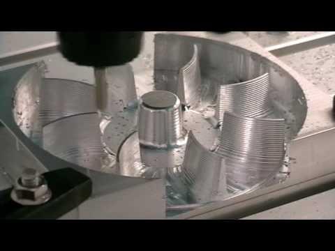 Aluminium Gebläserad MillStep CNC Fräsmaschine Graviermaschine
