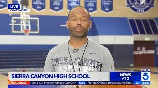 Coach Andre on KTLA 5 News to discuss team's road to the state championship!