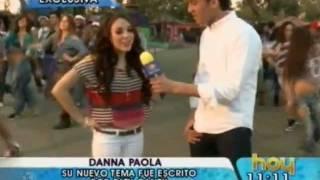 Danna Paola en Grabacion de Videoclip Ruleta - Programa HOY