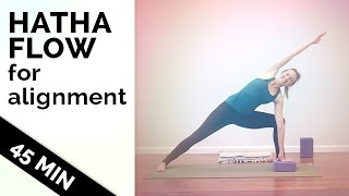 Hatha Yoga Flow How to Improve Your Flexibility and Alignment   Yoga  for All Levels [45-Min]