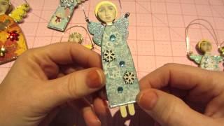 Primitive Angel Ornaments