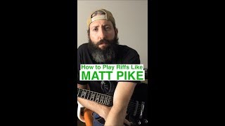 How to Write and Play Guitar Riffs like Matt Pike of Sleep and High on Fire