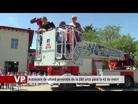 Autoscara de ultimă generație de la ISU urcă până la 42 de metri