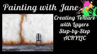 Creating Texture With Layers Step By Step Acrylic Painting On Canvas For Beginners