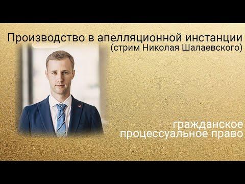 Производство в апелляционной инстанции (стрим Николая Шалаевского).