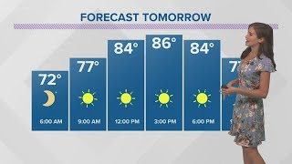 It'll be warm and humid Sunday, but cool fronts on the way