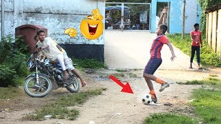 Fake Football Kick Prank With Public Reaction
