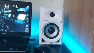 pioneer dm-40 40w 4-inch compact active monitor speakers sound test