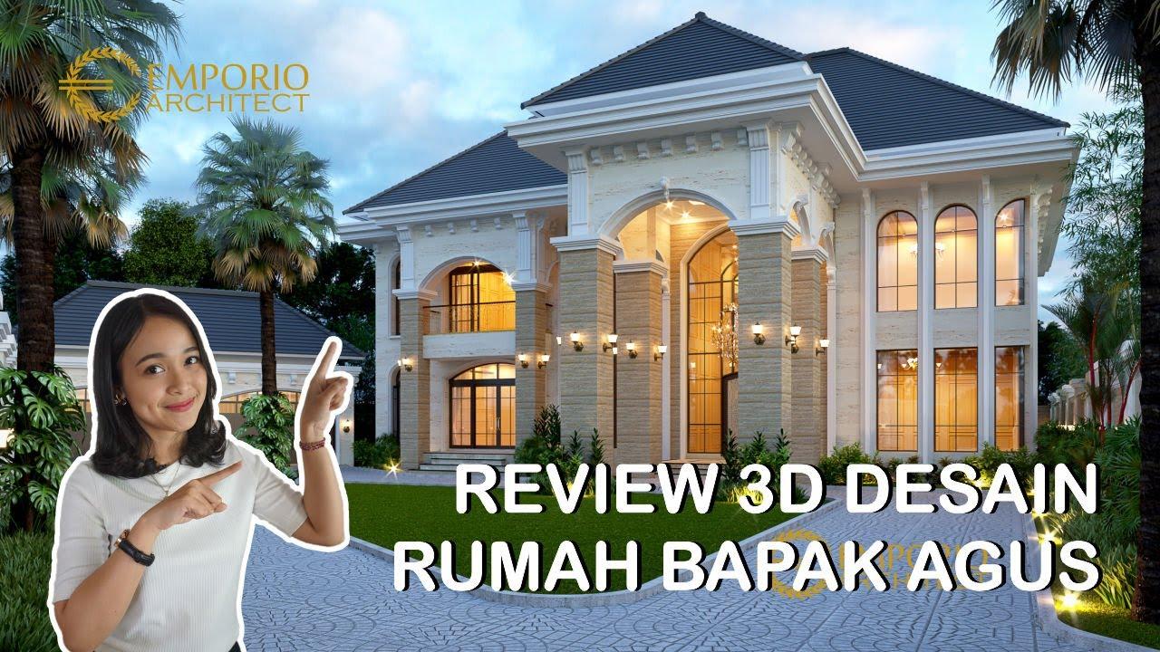 Video 3D Desain Rumah Mediteran 2 Lantai Bapak Agus di Balikpapan
