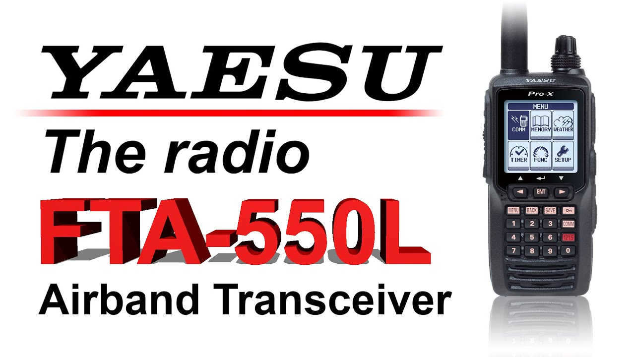 Yaesu FTA550LEU Pro-X Transceiver Air Band Portable.