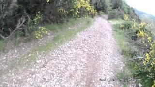 preview picture of video 'Discesa Mountain bike con caduta nel burrone-downhill reggio calabria'