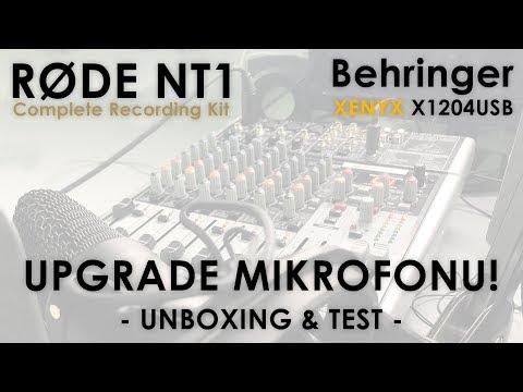 UPGRADE MIKROFONU!   Rode NT1 & Behringer XENYX X1204USB   Unboxing & Test