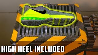 Experiment Shredding Nike Shoe And Some Other Shoes | PressTube - Video Youtube