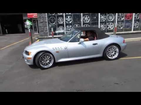 1997 BMW Z3 RIDING ON CUSTOM 18 INCH HYPER SILVER RIMS & TIRES