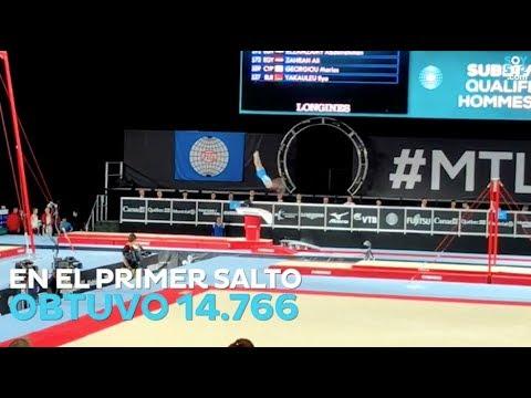 Jorge Vega clasificó a la final de salto al potro en el mundial de gimansia