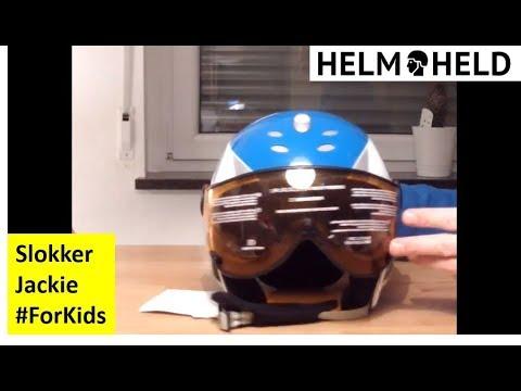 Skihelm für Kinder mit Visier - Slokker Jaky