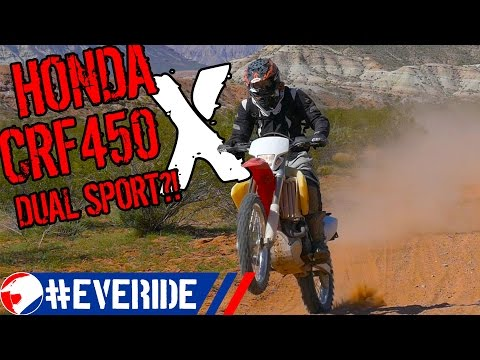 HONDA CRF450X Review from a Dual Sport & ADV Perspective #everide