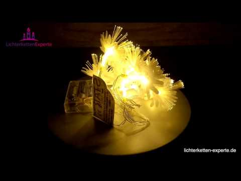 Lichterkette mit Fiberglas Batteriebetrieben für die Dekoration zu Hause