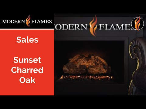Sunset Charred Oak - Battery Operated Electric Log Set