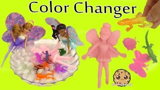 Barbie Dolls Grow Changerz Animals & Color Change Stretchy Frogs + Lizards in Ice Water