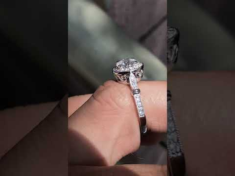 eng670a-MC Antique Style Engagement Ring