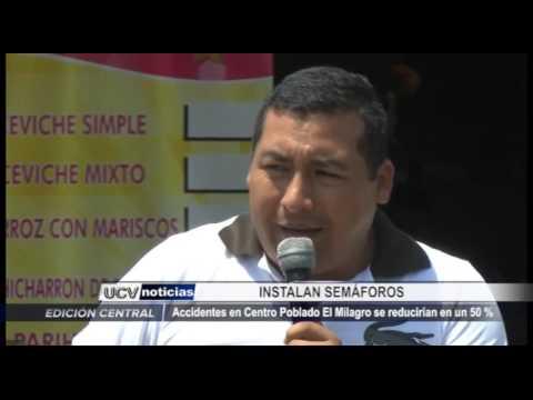 Trujillo: Instalan semáforos en centro poblado El Milagro