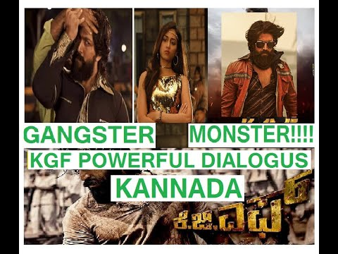 #KGF Powerful Dialogues Kannada | Yash | Srinidhi Shetty| Prashanth Neel