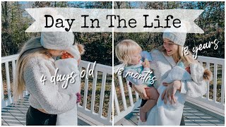 A day in the life with a newborn and a toddler // Teen Mom of 2 *vlogmas*