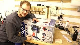 Scheppach Tischbohrmaschine DP16SL   Positive Überraschung!   Unboxing