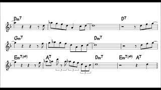 Blues Walk ー Easy Solo Sample for Alto Sax