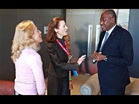 Audience accordée par le Premier Ministre Amadou Gon Coulibaly à l'occasion de la 3ème Conférence de Financement du Partenariat Mondial pour l'Education