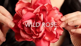 How To Make A Fabric Hair Flower | Beautiful Wild Rose!