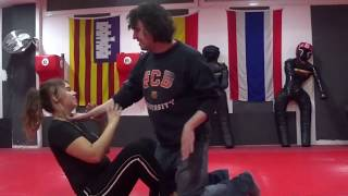 Women self defense hold armbar part 2