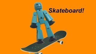 Stikbot On A Skateboard!?!? (Stikbot Stop Motion Animation)