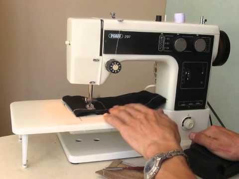 Sewing machine Швейная машина Pfaff 207 test шифон, джинс, кожа