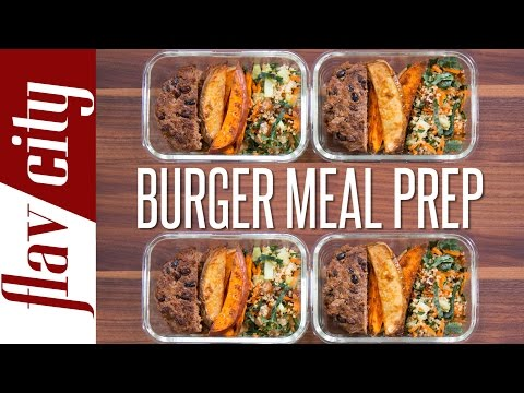 Video Healthy Burger Meal Prep – Easy Meal Prep Recipes