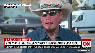 Texas church shooting hero left his shoes, picked up a gun (entire CNN interview)