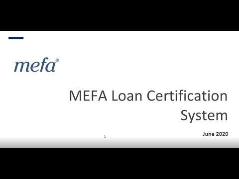 MEFA Loan Certification System Demo