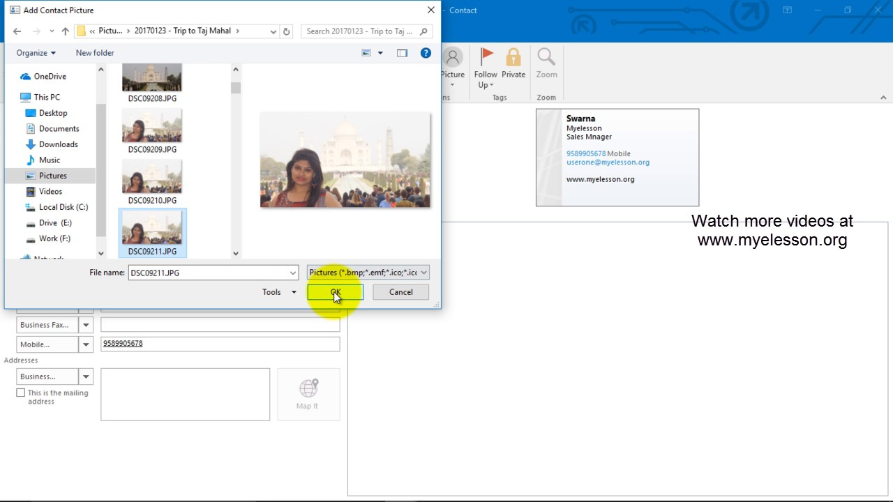 How to Create a Contact in Outlook