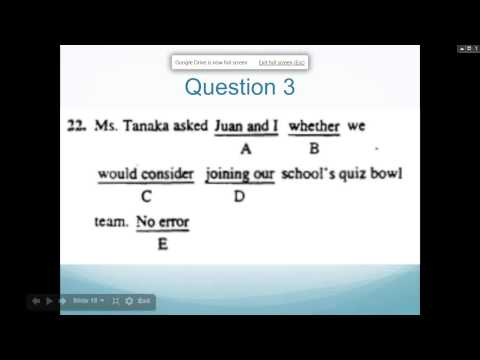 Free SAT Webinar Quick and Easy Grammar Rules for the SAT ...