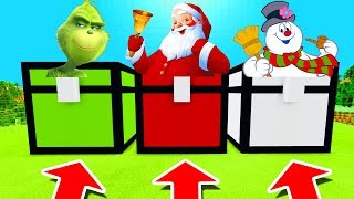 Minecraft PE : DO NOT CHOOSE THE WRONG CHEST! (Grinch, Santa & Frosty The Snowman)
